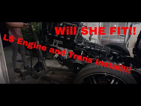 INSTALL LS Engine and 6L90 6L80 Trans (Mounts) DARKNESS PART 6