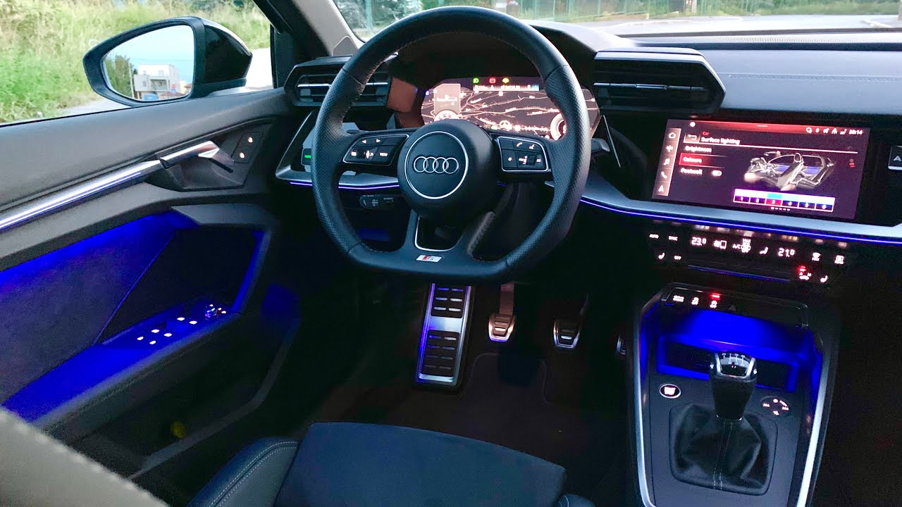 new audi a3 2020 crazy ambient lights demonstration s line interior