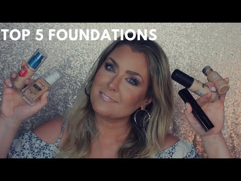 TOP 5 FOUNDATIONS | MY GO TO FOUNDATIONS | HOT MESS MOMMA MD