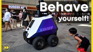 Xavier, Singapore's new beat cop (Autonomous Mobile Robot)