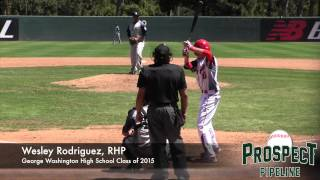 Wesley Rodriguez Prospect Video, RHP, George Washington High School Class of 2015 #mlbdraft