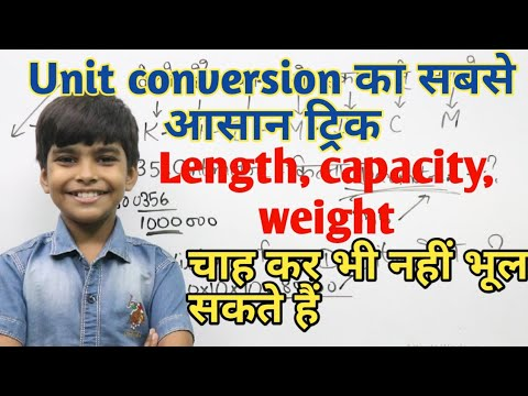 Download यूनिट कन्वर्जन || Easiest trick of unit conversion || Standard unit of length capacity weight