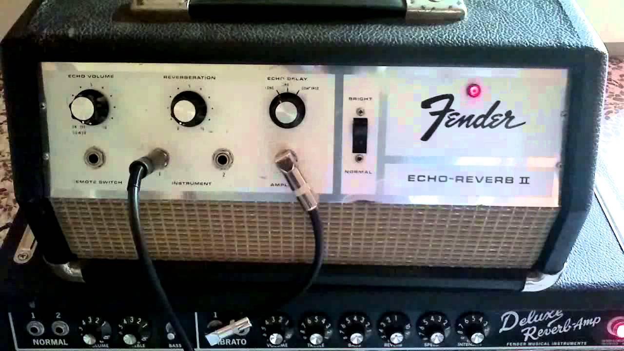 Fender echo-reverb II oilcan delay Tel Ray 1967 - YouTube