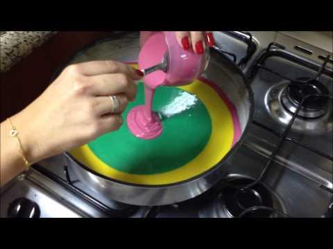 Bolo colorido (rainbow cake) - por Carla Marins