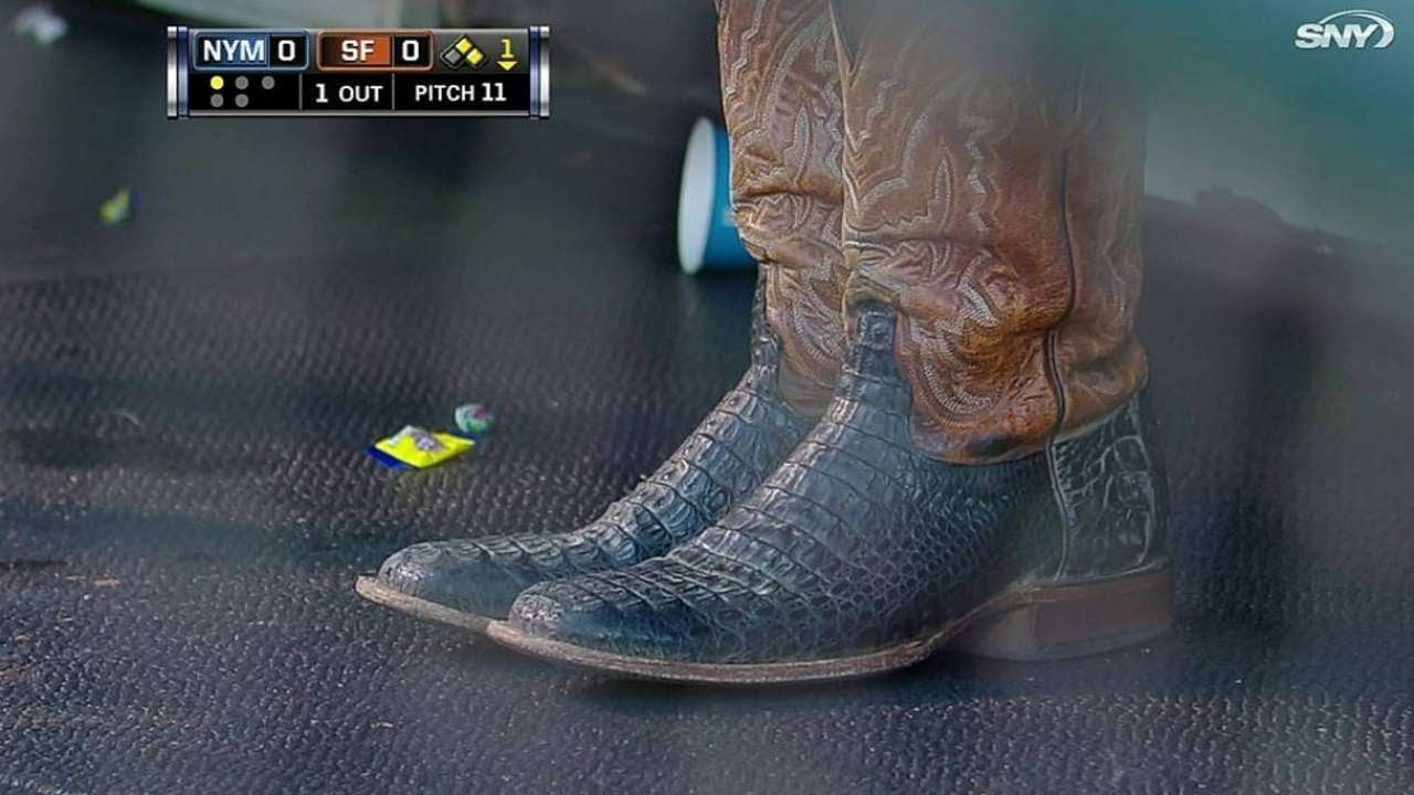047d3a42f09 NYM@SF: Mets' broadcast on Panda's cowboy boots