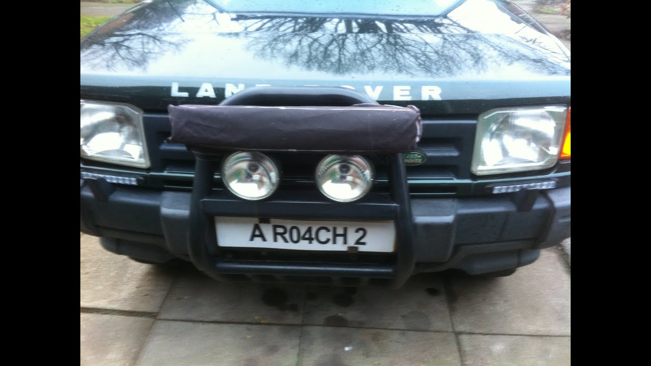 Land rover 120 watt led light bar upgrade youtube mozeypictures Image collections