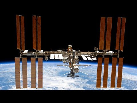ISS International Space Station Livestream With ISS Tracker Overlay - 1
