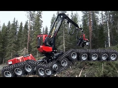 Heavy Dangerous Largest Excavator Woodworking Chainsaw Machines - Extreme Equipment Wood Technology