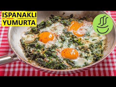 Ispanaklı Yumurta - Yumurtalı Ispanak