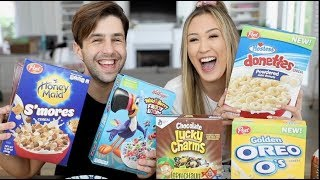 WEIRD CEREAL MUKBANG FT LaurDIY!!!