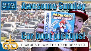 Awesome Sunday Car Boot | Pickups From The Geek Den!! #19 | Nintendo, Xbox, Playstation, Toys