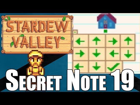 Secret Note 19 Walkthrough   How To Get The Solid Gold Lewis Statue In Stardew Valley