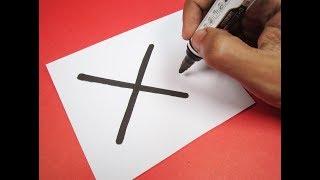 X bir Çizgi film Mektup ''X'' nasıl açılır?-MEN Wolverine ! Alfabe ile eğlenceli çocuklar için Çizim