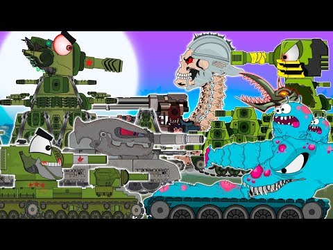 All KV-44 series.Monster battle first round.Cartoons about tanks