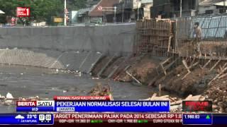 Proyek Normalisasi Kali Ciliwung Rampung 80 Persen