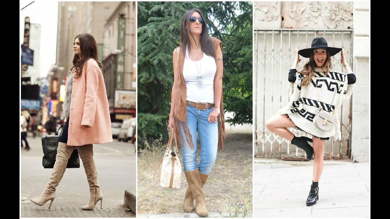 Botas Mujer U2665 OUTFITS DE OTOu00d1O #Botas #Outfits #Moda - YouTube