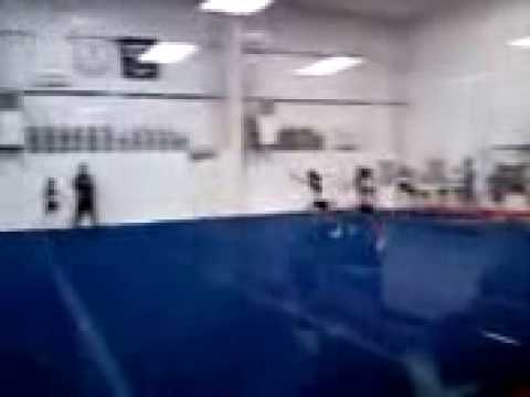 Krista Round off double backhandspring!