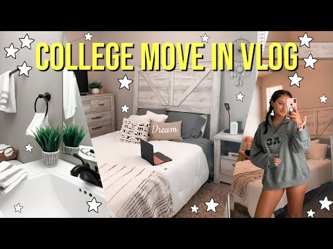 COLLEGE MOVE IN DAY VLOG | UNC Charlotte