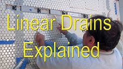 🤔 Linear drains for tile showers  explained👍