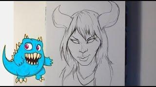 Drawing a Female Demon - Draw Fantasy Art