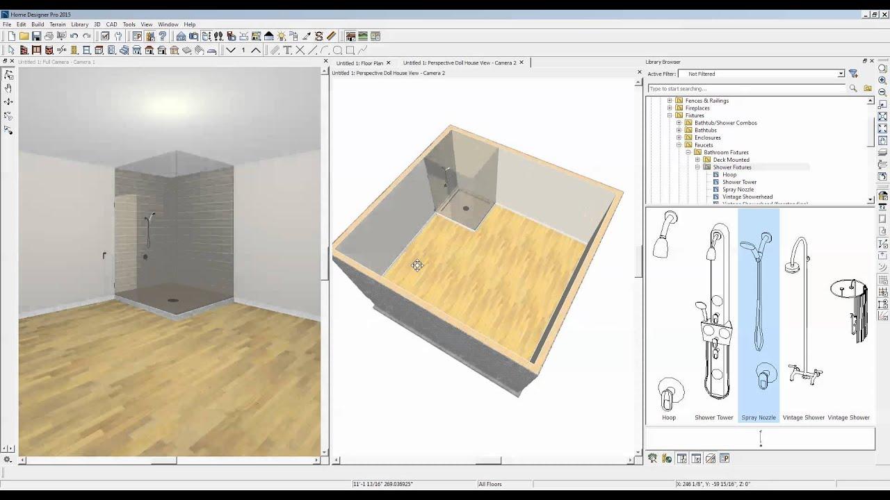 custom showers in home designer pro 2015 - Home Designer Pro