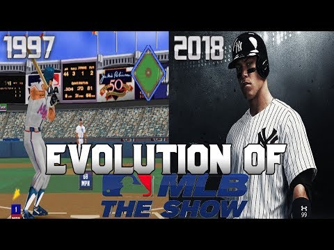 Graphical Evolution of MLB/MLB: The Show (1997-2018)