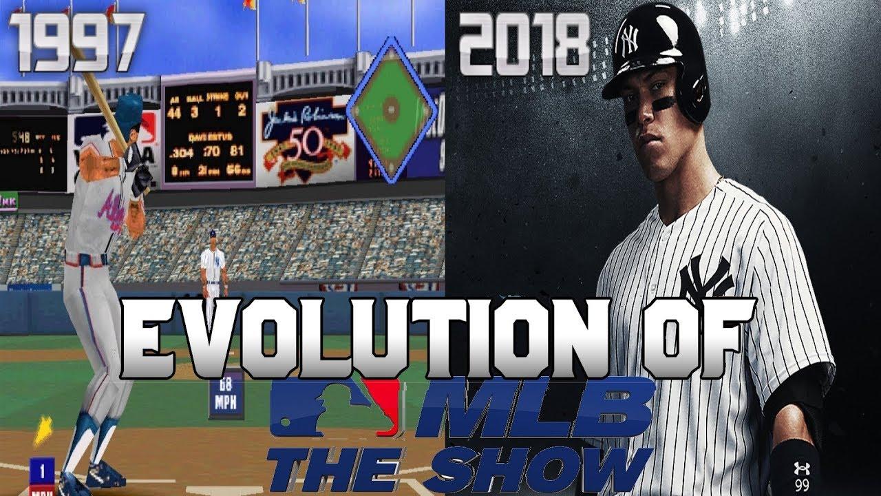 Graphical Evolution of MLB/MLB: The Show (1997-2018)
