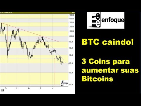 Bitcoin caindo. 3 criptomoedas para aumentar suas Bitcoins