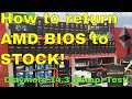 How to Return your AMD GPU to Stock in 2019! Claymore 14.3 Strap test!