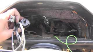Mercedes W124 Instrument Cluster removal