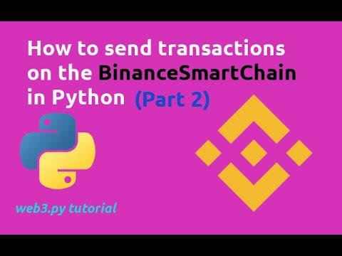 Send BNB Token on BinanceSmartChain in Python