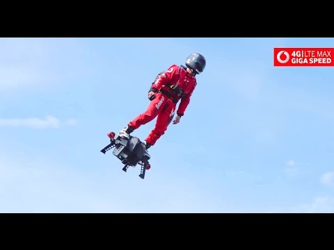 Zapata Racing - Flyboard Air Turbojet Hoverboard Demonstration [1080p]