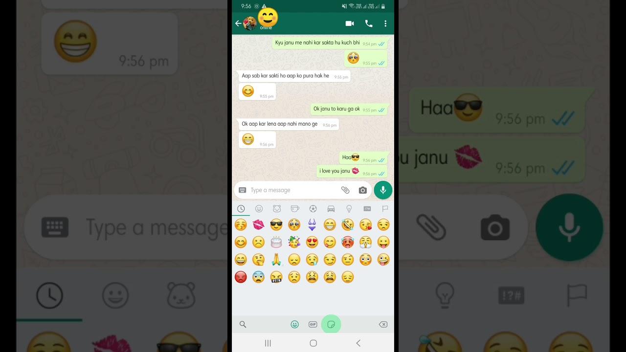 Love hot WhatsApp chat💝gf bf - YouTube