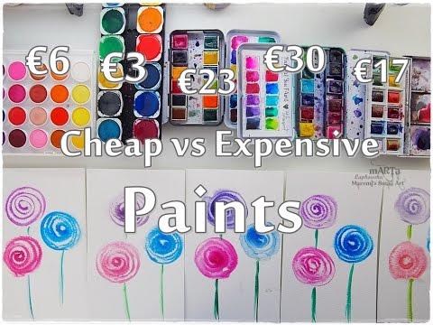 Cheap vs Expensive Paint Watercolor Comparison ♡ Maremi's Small Art ♡