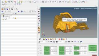 Shell mesh quality - checking editing with HyperMesh