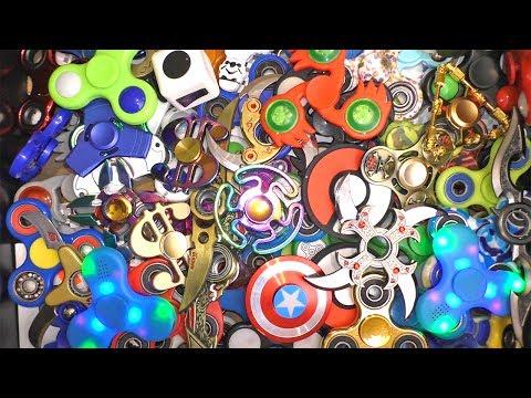 120+ HUGE Fidget Spinner Collection!!