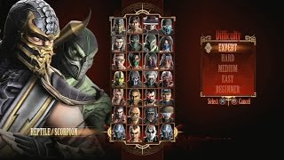 Mortal Kombat 9 - Expert Tag Ladder (Reptile & Scorpion/3 Rounds/No Losses)