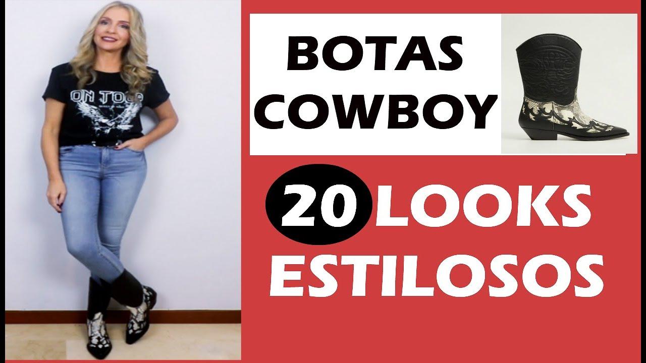 Alerta Tendencia 20 Looks Con Botas Cowboy Botas Vaqueras Botas Camperas O Botas Texanas Youtube