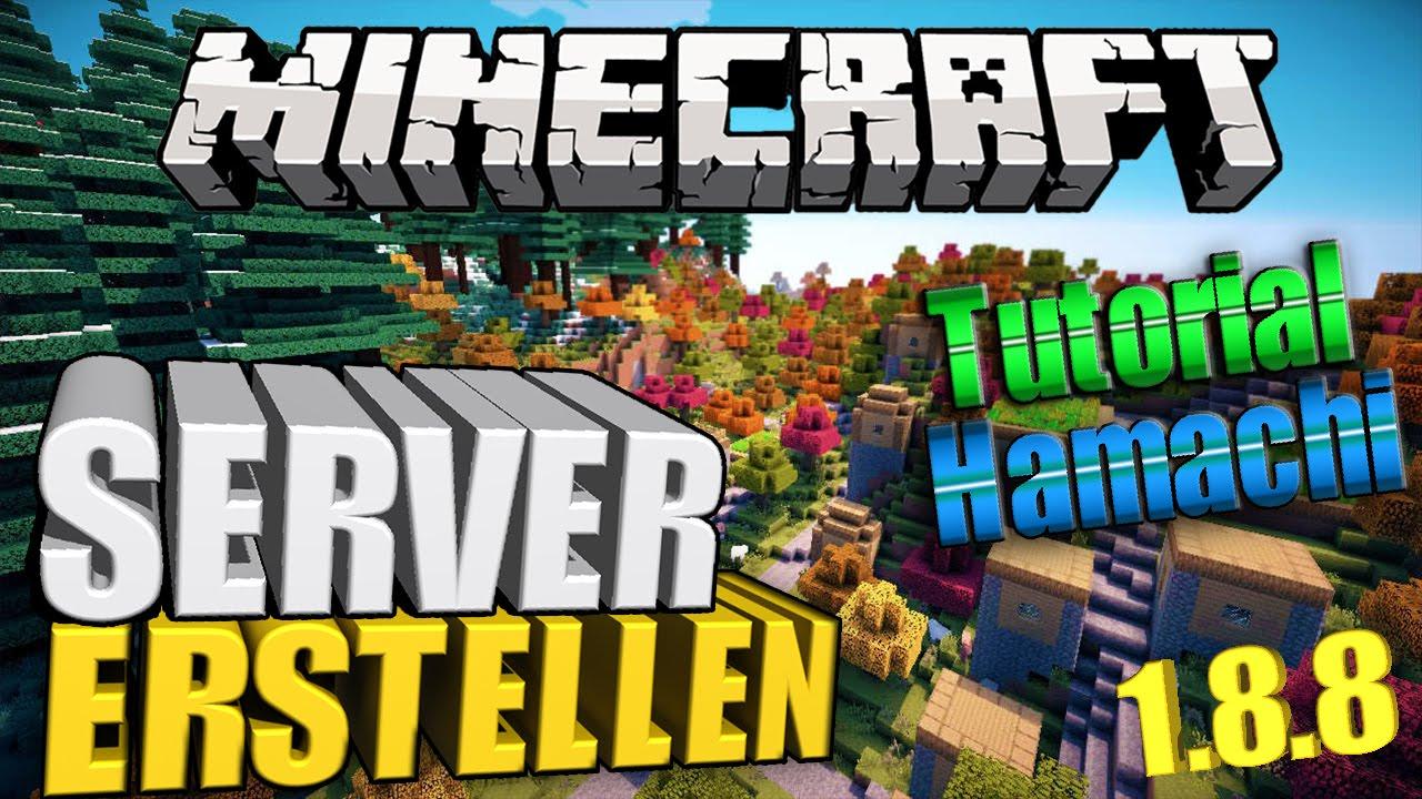 Minecraft Tutorial SERVER ERSTELLEN Minecraft Server - Minecraft multiplayer server erstellen 1 8