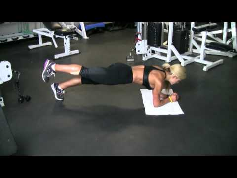 Women's workout by Claremont Personal Trainer, Plank Back Leg Raise