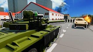 LEGO BASE DEFENSE & TANK WAR! - Brick Rigs Multiplayer Gameplay - Lego City Military Battle
