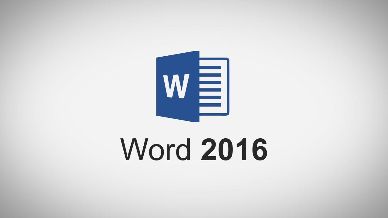 Introduction to Microsoft Word 2016 - YouTube