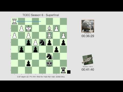 TCEC Season 6: Stockfish defeats Komodo with a brilliant exchange sacrifice (Slav defense)