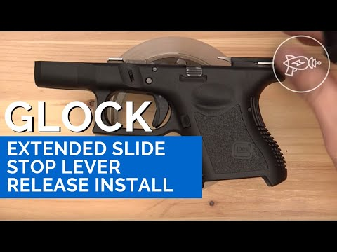 Glock Extended Slide Stop Lever Release Install (HD+Quick