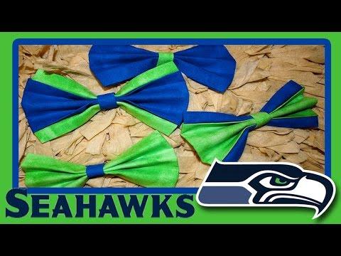 Seattle Seahawks No Sew Hair Bows!