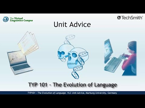 TYP101 - Unit Advice (Evolution of Language)