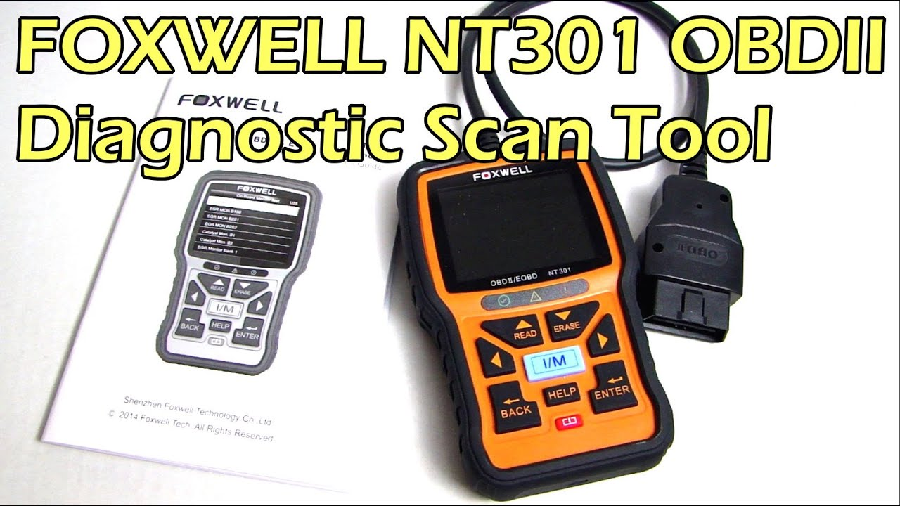 FOXWELL NT301 OBDII Diagnostic Scan Tool Review