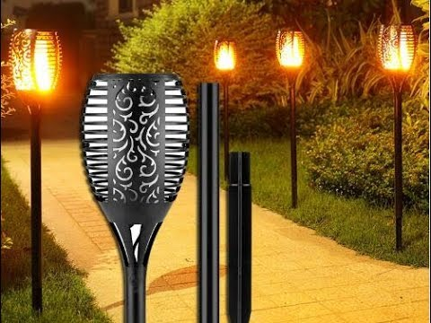 Christmas Gift Solar Garden Flame Torch Light Flicker Ip65