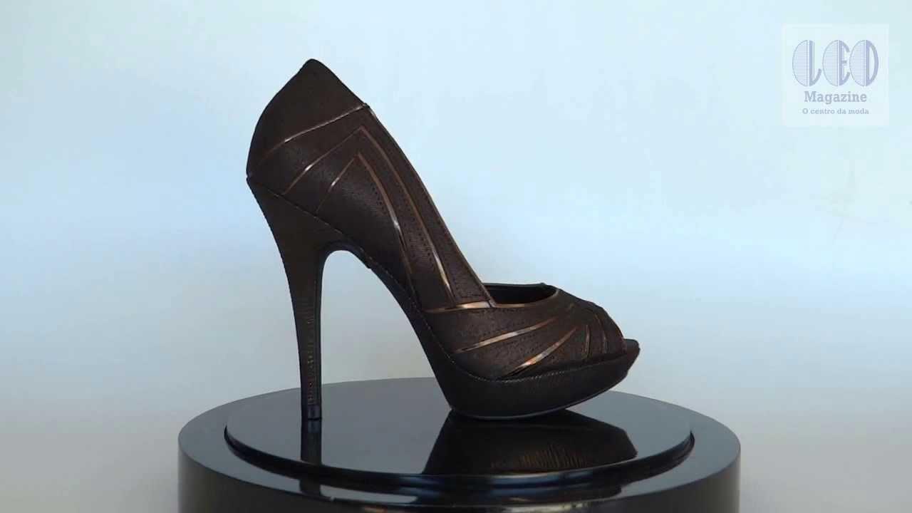 933552352a Peep Toe Feminino Vizzano -- 1811.101 - Bronze - YouTube