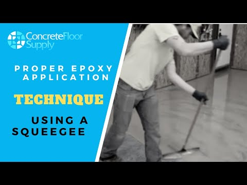 Proper Concrete Epoxy Application with a Squeegee